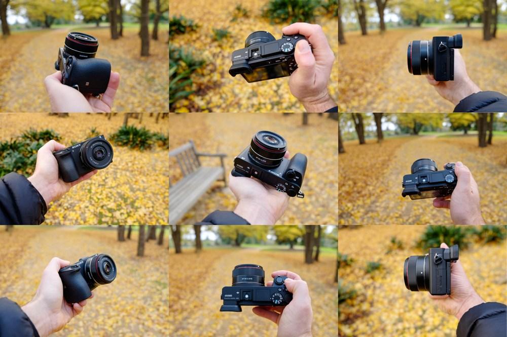Объектив Samyang AF 35mm f/2.8 FE на камере Sony A6500 в разных ракурсах