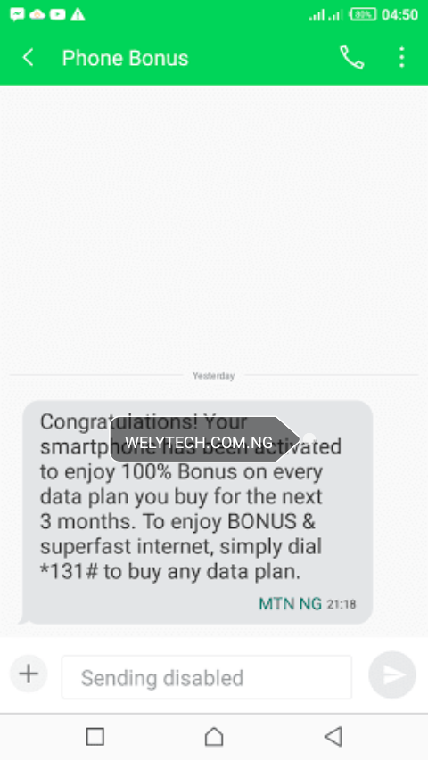 Activate MTN 100% Data Double Bonus On Any Phone - Enjoy Free Double Data