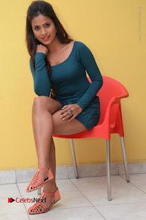 Telugu Actress Prasanthi Stills in Green Short Dress at Swachh Hyderabad Cricket Press Meet  0082.JPG