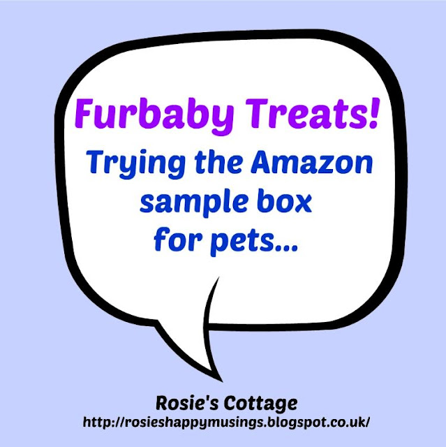 Furbaby treats - Smiles for our furbaby Jade from the Amazon sample box.