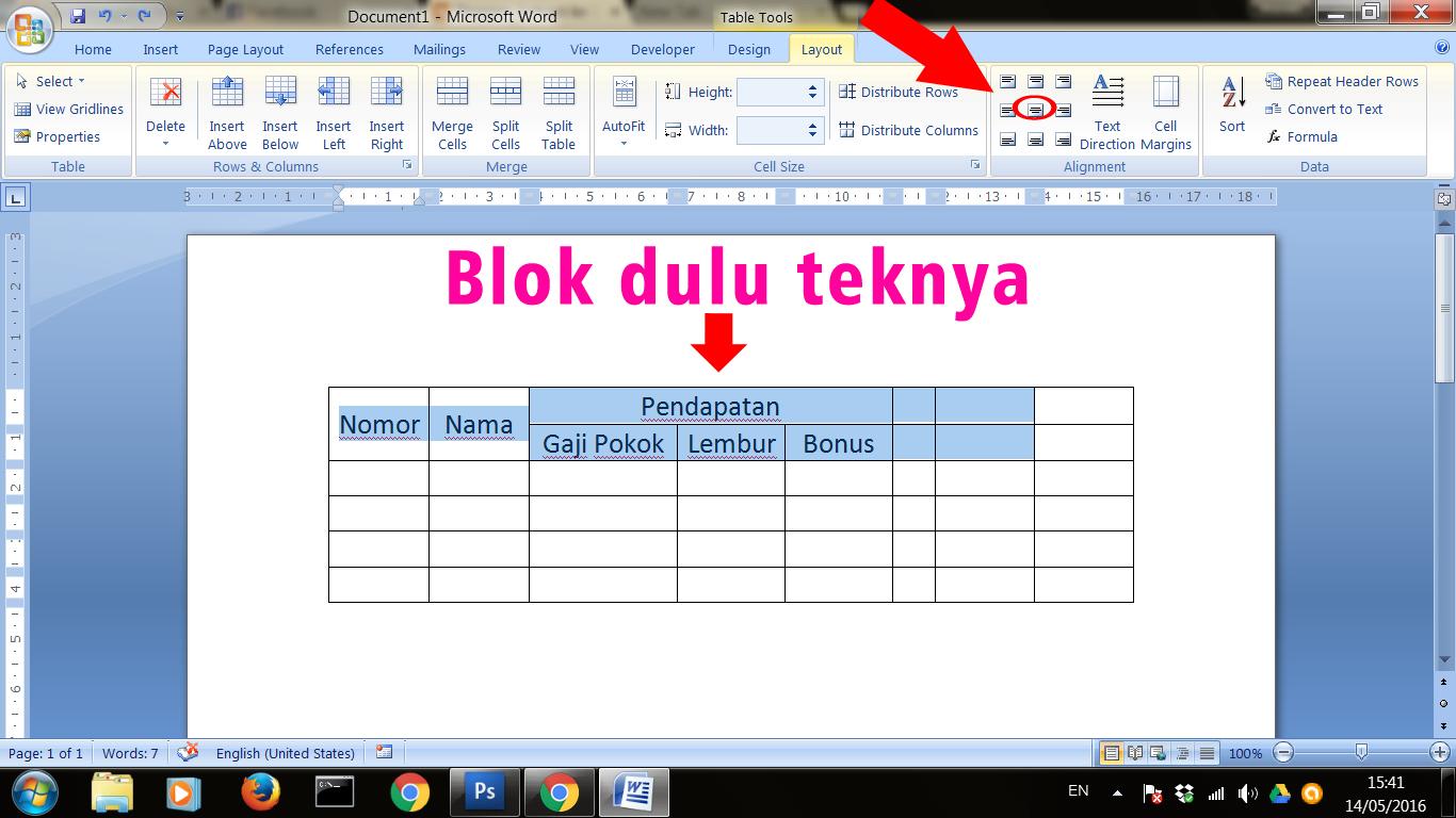 Cara Mudah Menggabungkan Merge Tabel Di Microsoft Word Raumus Com