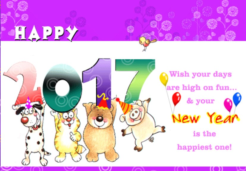 happy new year 2017 images: ecards