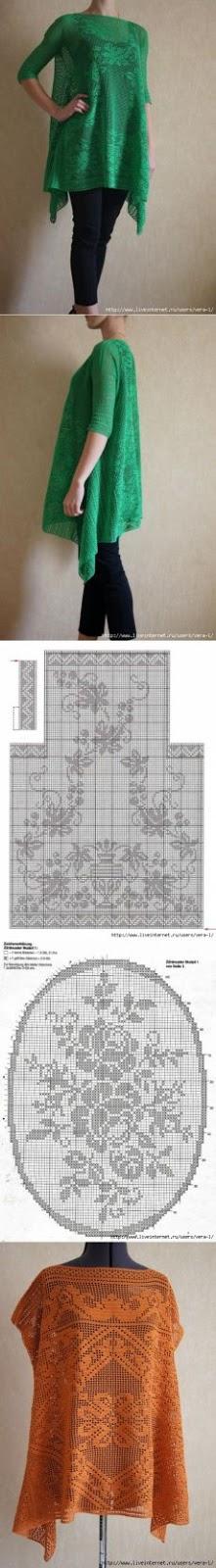 wzory filetowych ubran