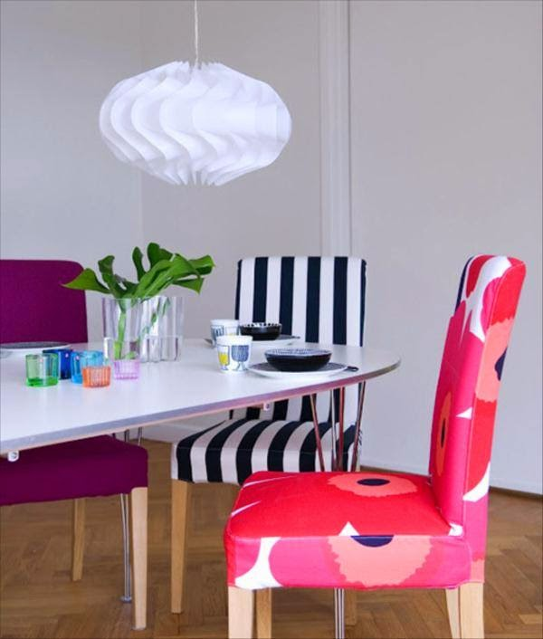 Colorful Dining Chair: Colorful Dining Room With Multicolored Chairs