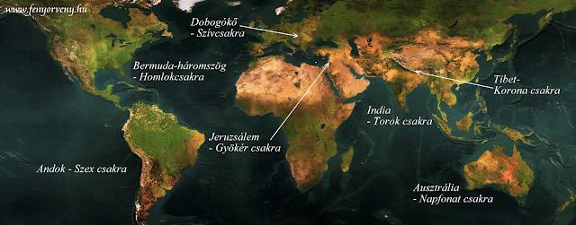 A Föld csakrapontjai (térkép)