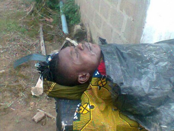 See Body Of Footballer Izu Joseph After He Was Shot Dead By JTF In Rivers State (PHOTOS)
