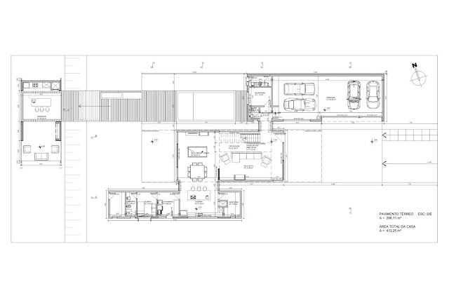Ground floor plan of the Haack House