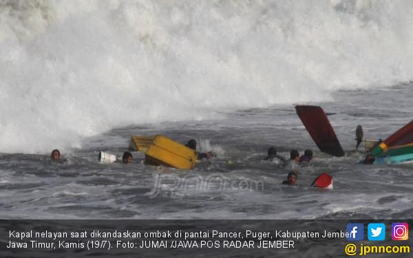 Dihantam Ombak, Kapal Nelayan Jember Tenggelam, 6 Meninggal