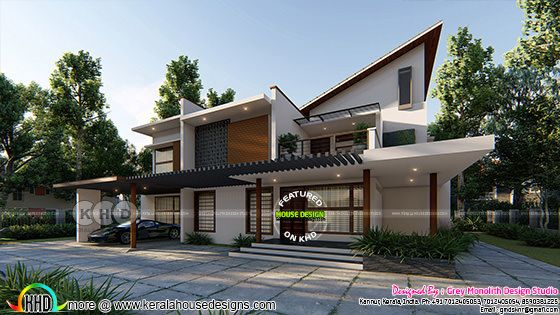 Ultra modern 4 bedroom modern home plan