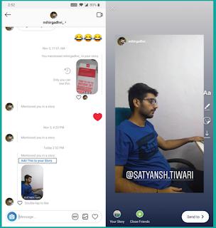 Cara Memposting Ulang Cerita Instagram ketika Anda di Tandai