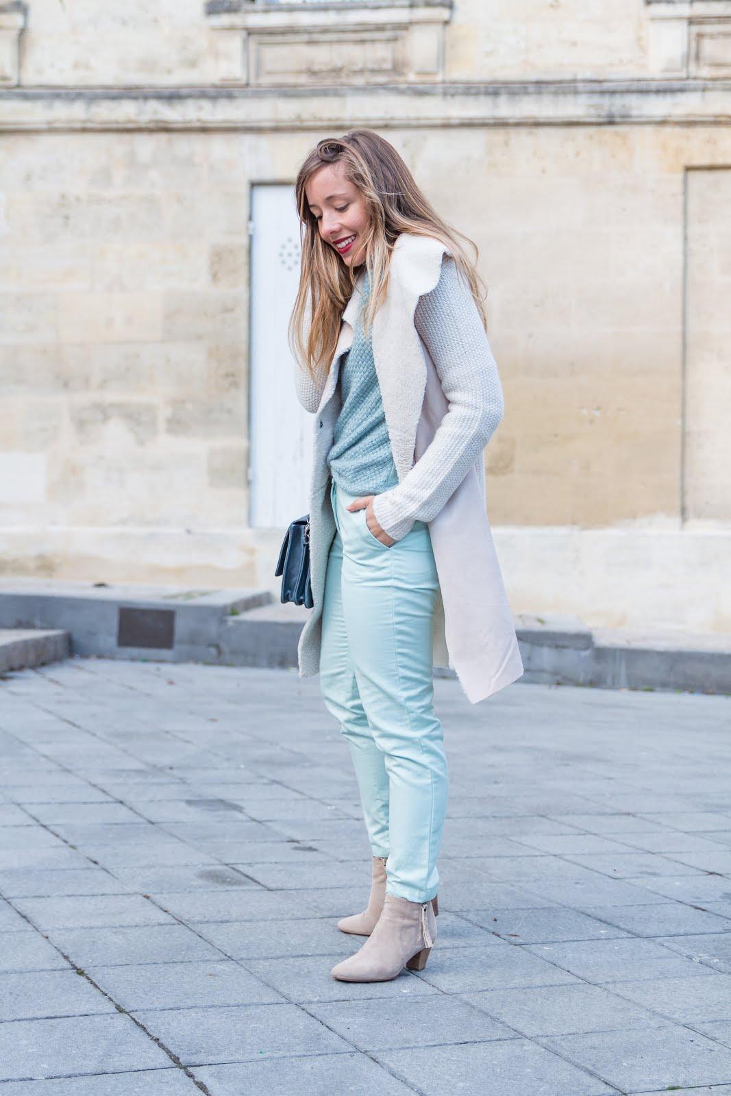 blog mode tenue couleurs pastel hiver