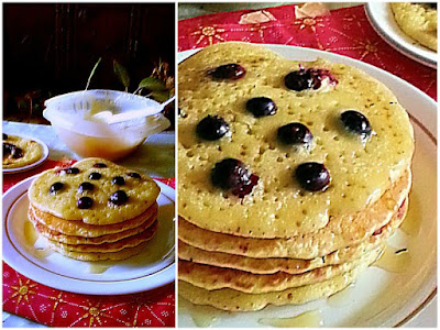 Perfect Blueberry Pancake Recipe  @ treatntrick.blogspot.com