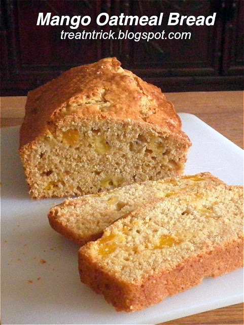 Mango Oatmeal Quick Bread Recipe @ http://treatntrick.blogspot.com