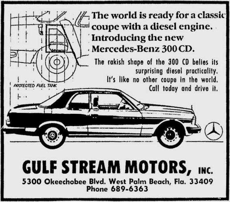 Mercedes 300CD - Zeitungsanzeige 1978