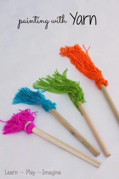 Homemade Yarn Paint Brushes Learn Play Imagine