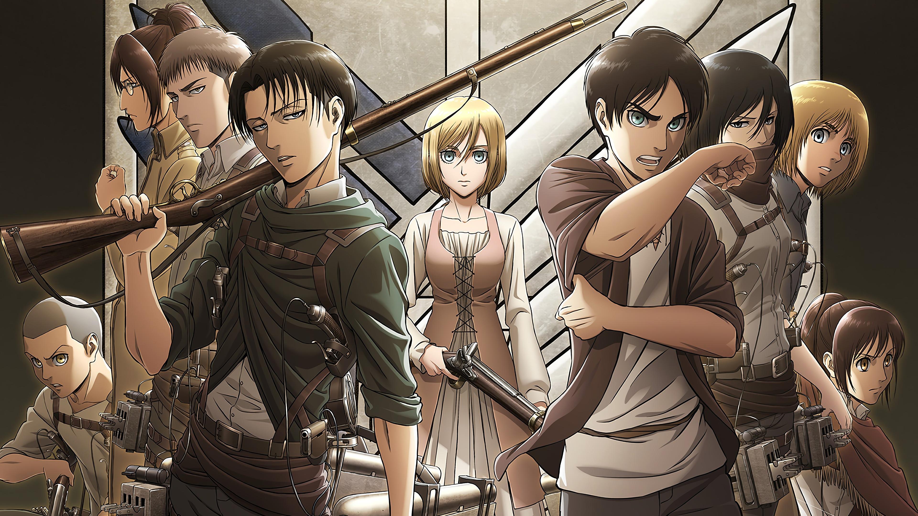 Attack on titan wallpaper eren mikasa armin levi. Levi, Eren, Krista, Attack on Titan, Characters, 4K, #143 ...