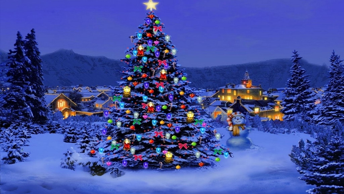 Free Download Christmas Tree HD Wallpapers for iPhone 5 Part One - Christmas Tree with Snow and ...
