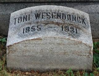Grabstein von Toni Wesendonck