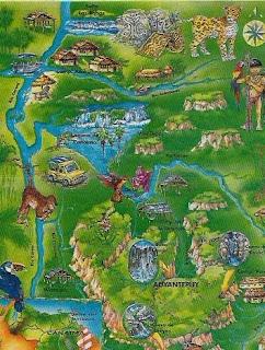 mapa canaima, parque nacional canaima, venezuela, vuelta al mundo, asun y ricardo, round the world, informacion viajes, consejos, fotos, guia, diario, excursiones