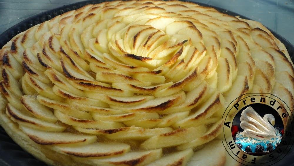 Tarte aux pommes d'Arnaud Delmontel (pas à pas en photos)