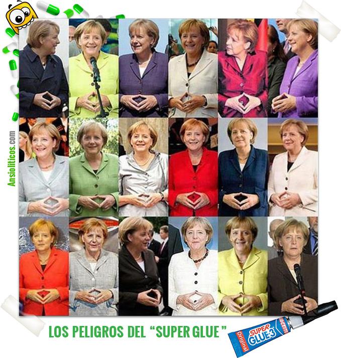 Chiste Angela Merkel y el Pegamento