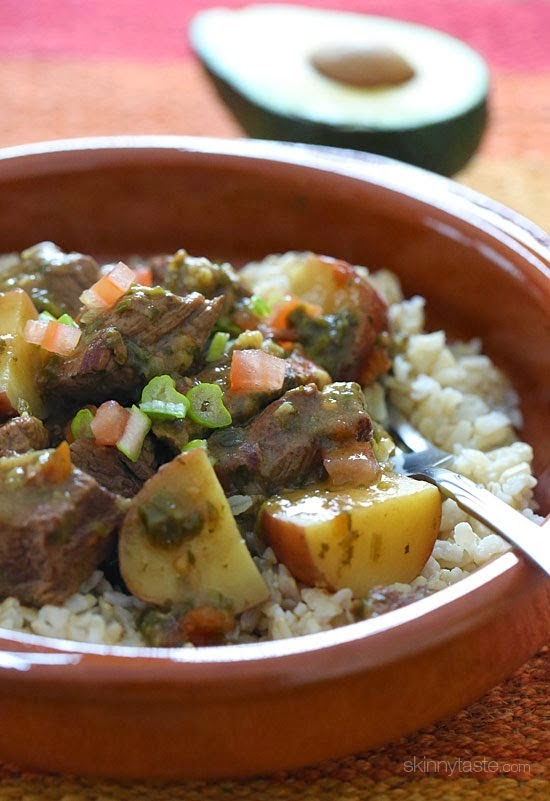Crock Pot Carne Guisado (Latin Beef Stew) from Skinnytaste found on SlowCookerFromScratch.com