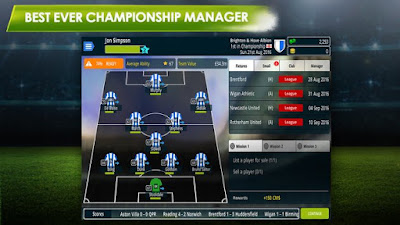 on this occasion I will share game android mod Download Championship Manager 17 Mod Apk Coaching Badges v1.3.1.807