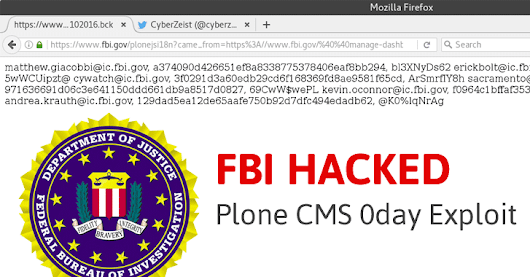 FBI Hacked, Again! Hacker Leaks Data After Agency Failed to Patch Its Site