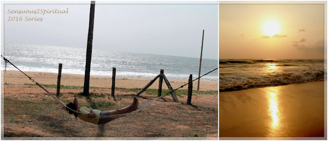 sunset, beach, hammock, coastal India