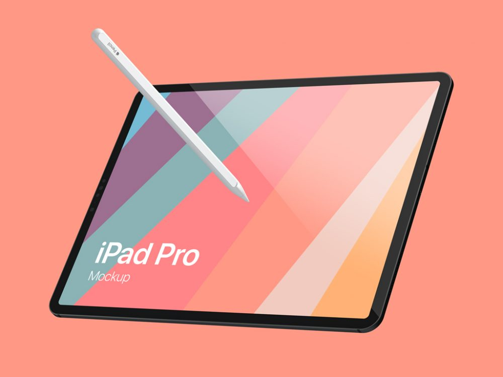 Floating iPad Pro Mockup