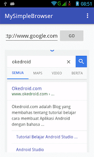 Contoh Aplikasi Browser Simple Android Studio