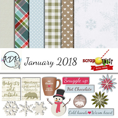 Scrap Twist Blog Train Freebie January 2018 - Bearable