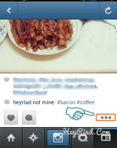 Remove delete foto di akun instagram