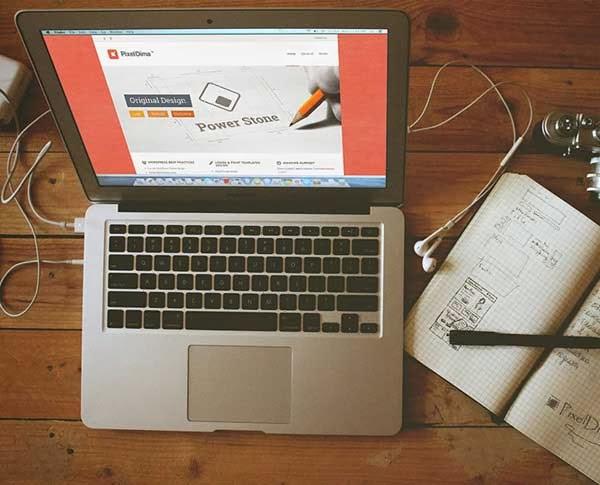 Macbook Air Screen Mockup PSD