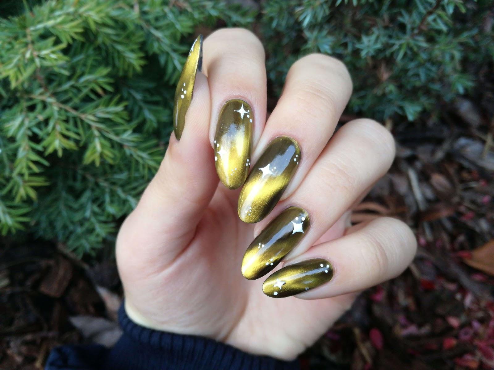 sylwestrowe zdobienie paznokci