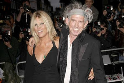 Rolling Stones Keith Richards and Wife Patti Hansen