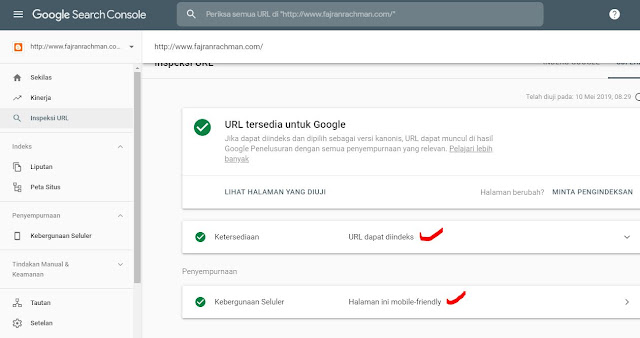 Tampilan Fetch As Google Terbaru