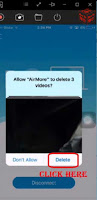 how to delete videos from iphone that were synced