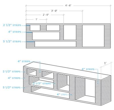 diy fabriquer un meuble tv initiales gg. Black Bedroom Furniture Sets. Home Design Ideas