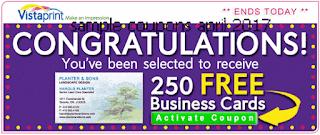 free Vistaprint coupons for april 2017