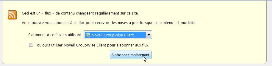 espace formation  groupwise   comment activer un flux rss