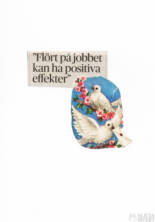 Motvallskort 2016, Alicia Sivertsson. valentine's day, alla hjärtans dag, feminism, collage, kollage