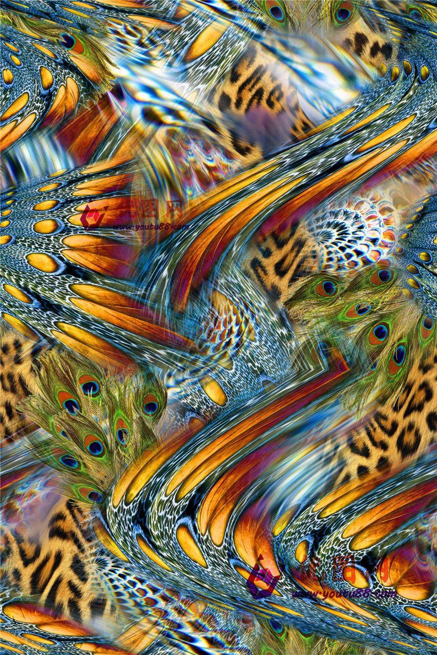 Wallpaper Geometric Hd Dİgİtal Prİnt Natural Feather Collage Joy Design Studio