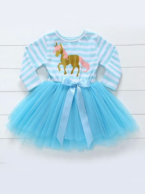 Paneled Striped Tutu Princess Dress Tulle for Baby Toddler Girls Wholesale