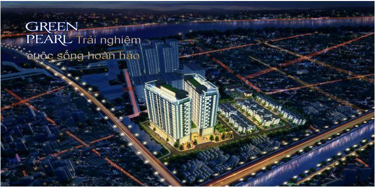 Phối cảnh chung cư Green Pearl Minh Khai