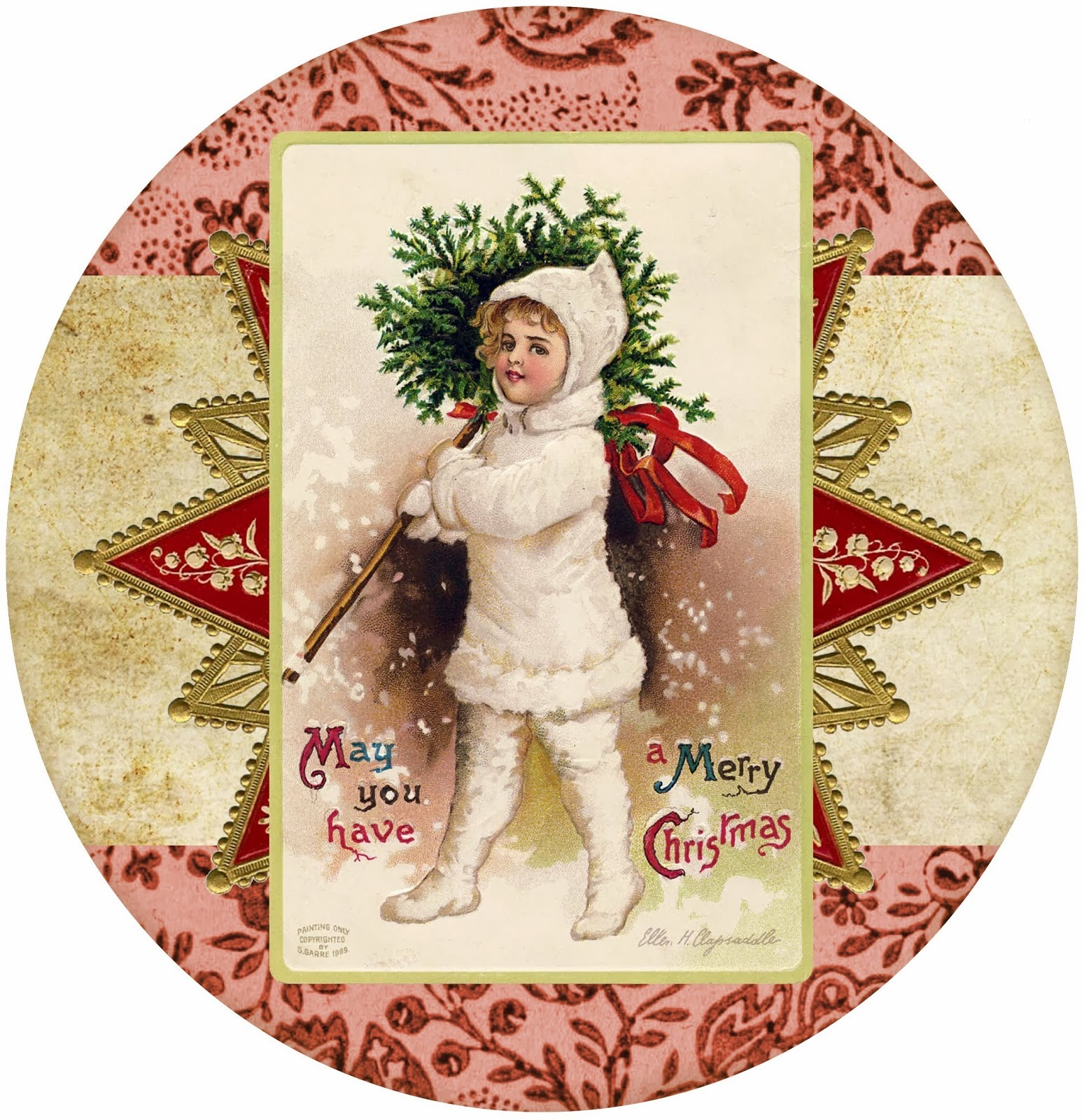 Christmas Free Printable Retro Tags Labels And Toppers
