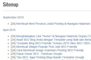 Sitemap (Daftar Isi) Blog Fast Loading