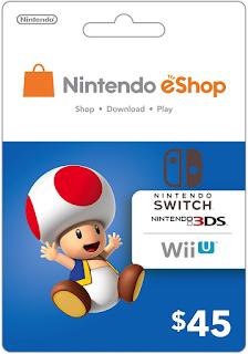 Tarjeta eShop para Nintendo Switch en Mercadolibre