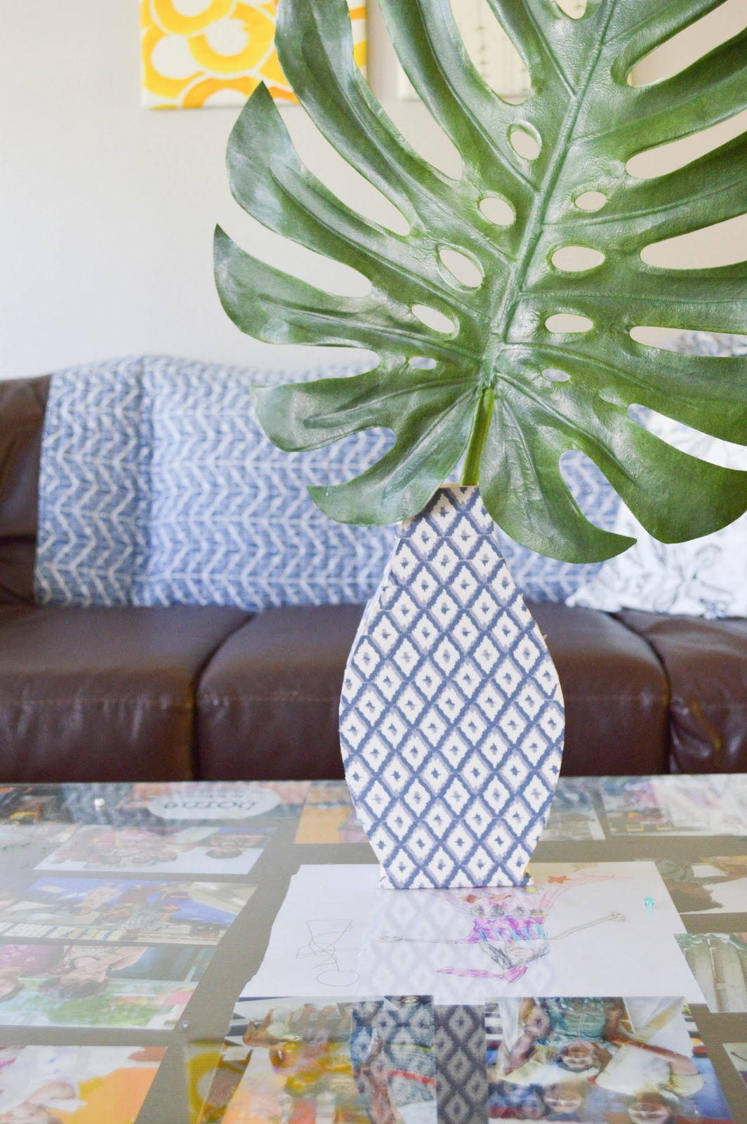 DIY Boho chic wood vase with easy instructions