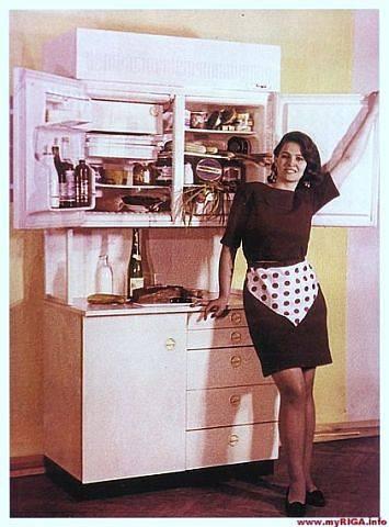 Холодильник Rīga, 1968 год. Производство РВЗ